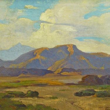 Dana Bartlett Mojave Desert near Palm Desert 20x24 Oil on Canvas