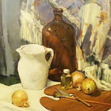 Deidre Bloch Artists Tools 30x24 Oil on Board