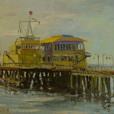 Dick Heimbold End of Santa Monica Pier 12x16 Oil