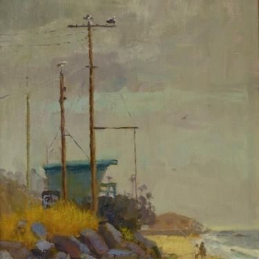 Dick Heimbold Foggy Day 16x12 Oil on Board