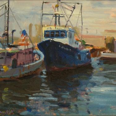 Dick Heimbold Harbor Pals 12x16 Oil on Board