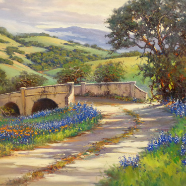 Don Langford Bridge to Green Pastures 30x40 Oil on Canvas