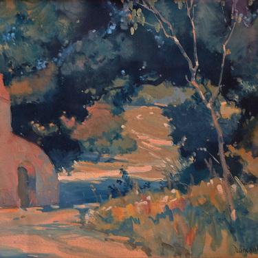 Duncan Gleason Mission Pathway 8x10 Watercolor Gouache