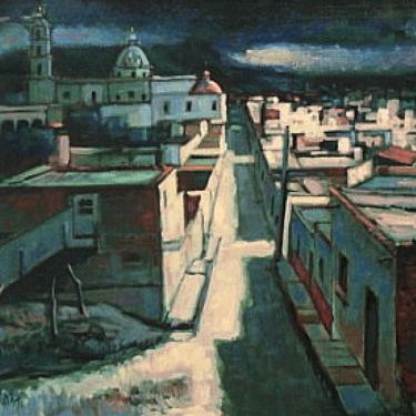 Earl Cordrey Taxco at Night 24x28 Oil