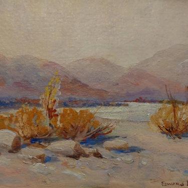 Edward Langley California Desert 7x9 Oil on Board