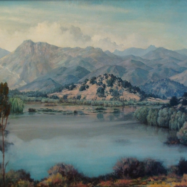 Edwin Leroy Forker Sherwood Lake 25x30 Oil on Canvas