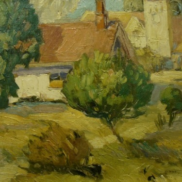 Einar Petersen The Parrish House 8x10 Oil