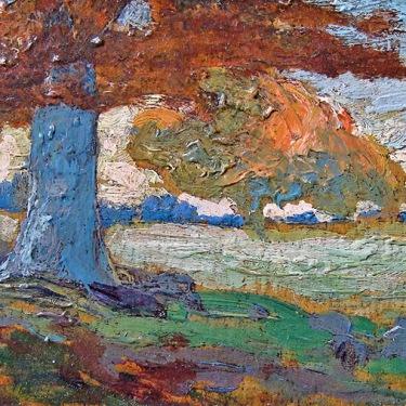 Frank Giradin Colorful Landscape 3x6 Oil on Board