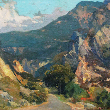 Frederick Becker Malibu Canyon 16x20 Oil on Board
