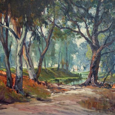 G T Beeson Forest Path 24x30 Oil on Canvas