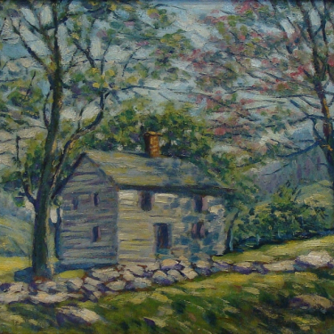 George Gardner Symons Cabin in the Hills 10x13 Oil on Board