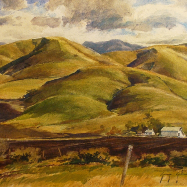 George Gibson Near Los Osos Road 22x30 Watercolor