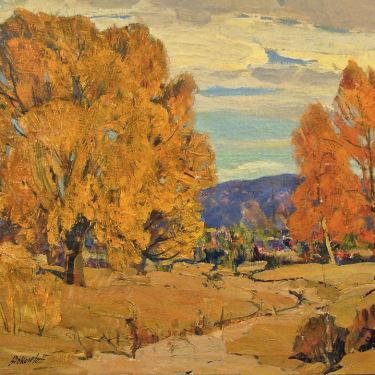George S Bickerstaff Autumn near Big Bear 28x32 Oil on Canvas