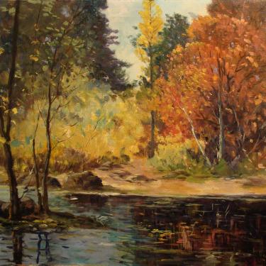George S Bickerstaff Truckee River 20x24 Oil on Canvas