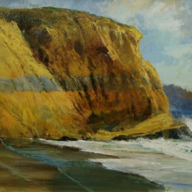 Gil Dellenger Eons Etched in the Walls Blacks Beach 24x30 Oil