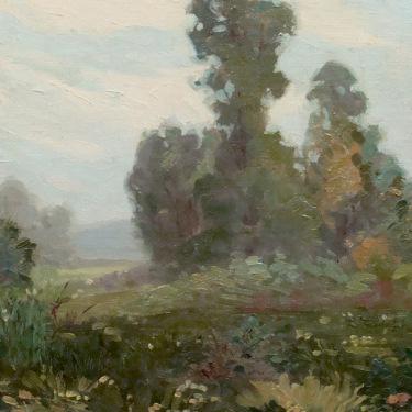 Glen Sheffer Flowers in Landscape 20x14 Oil