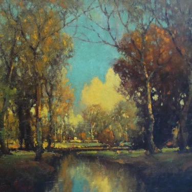 George Thompson Pritchard Forest Sunlight 20x24 Oil on Canvas