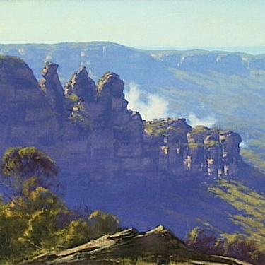 The Three Sisters by Graham Gercken - Oil Painting 20x30