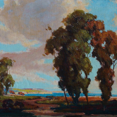 Jene Jackman California Coast 12x16 Oil on Canvas
