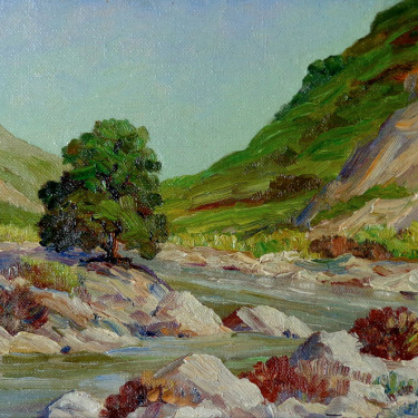 Joane Cromwell San Jacinto River 6x8 Oil on Canvas