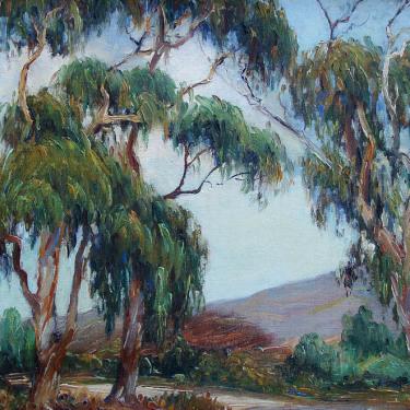 Joane Cromwell Laguna Beach Eucalyptus 12x16 Oil on Canvas Board