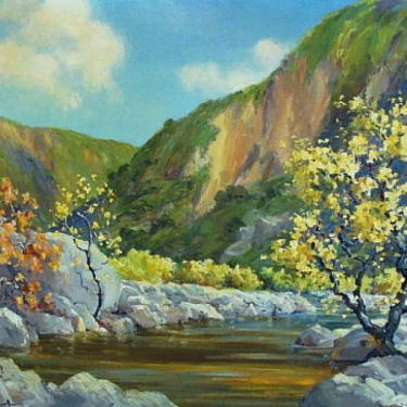 Joanne Cromwell San Jacinto River near Hemet 24x30 Oil