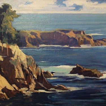 California Coast by Louis Hovey Sharp 20x30 Oil Painting