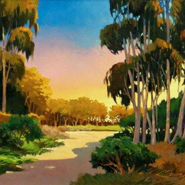 Fearman Golden Glow 16x20 Oil on Canvas