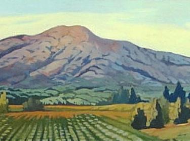 Sierra Madre Valley by Lynne Fearman - Oil Painting 4x12