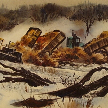 Back Fill by Standish Backus 15x22 Watercolor