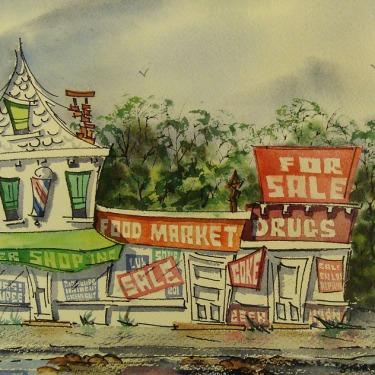 Stanley Brody Food Market 10x14 Watercolor