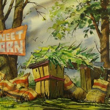 Stanley Brody Sweet Corn 10x14 Watercolor