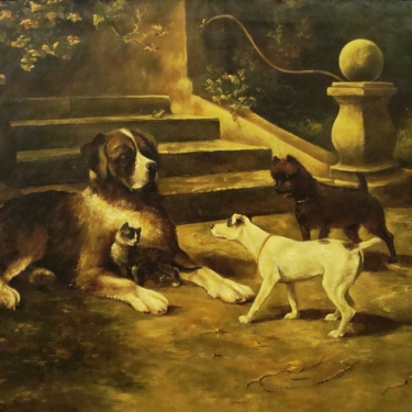 Evelyn Tinkney Marsh The Protector 18x22 Oil on Canvas