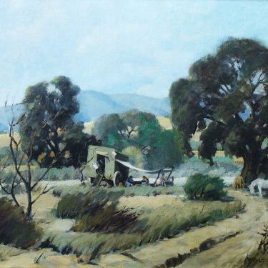 Walt Lee Gypsy Camp near Newhall 1933 28x32 Oil on Canvas