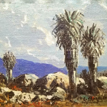 Carl Sammons Palm Springs Nocturnal 6x8 oil on board