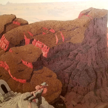 Conrad Buff The Badlands 24x30 serigraph on board