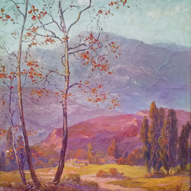 Eugene Franquinet 1875-1940 Sycamore in the Arroyo 30x24 oil on canvas California