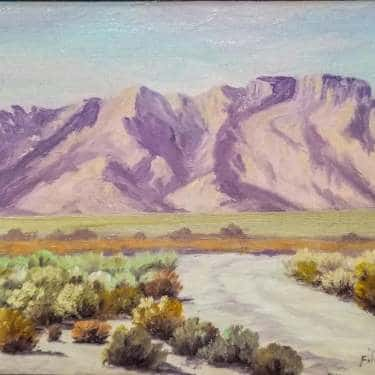 Fitch Wray Desert Vista 6x8 Oil on Board