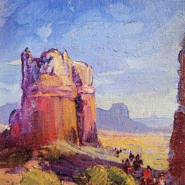 Fred Grayson Sayre Desert Tower 10x8 Oil on Board 895