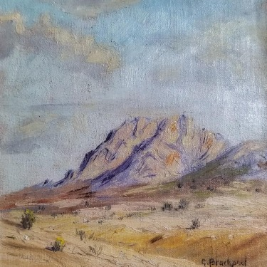 George Brackpool Desert Wash 6x6 Oil on Board