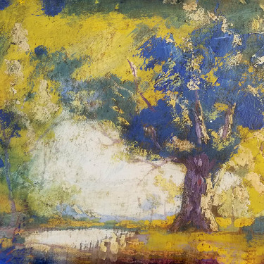 Irving Manior Forest Contrasts 10x14 oil on board 395