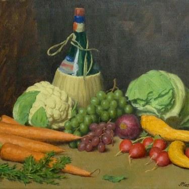 J. Mason Reeves Vegetable Medley 2 16x20 oil on canvas
