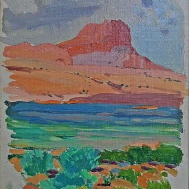 James Swinnerton Sketch of Monument Valley 12x8 Oil on Board