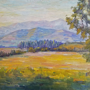 John Dominique Santa Barbara Meadow 10x14 oil on board 395