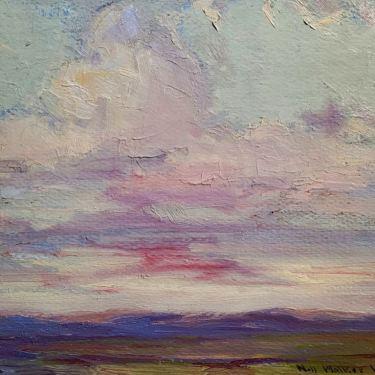 Nell Walker Warner Early Evening Color 10x12 Oil on Board 545