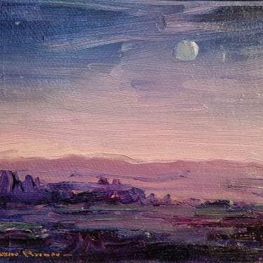 Nell Walker Warner Night on the Desert 8x10 Oil on Board 495