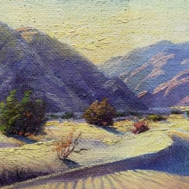 Paul Grimm Palm Springs Wash 6x8 Oil on Board 595