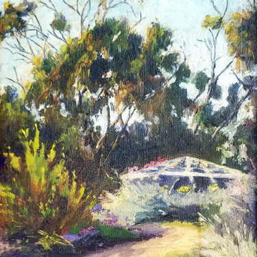 Vonna Owings Webb Garden Gazebo 12x9 oil on board 295