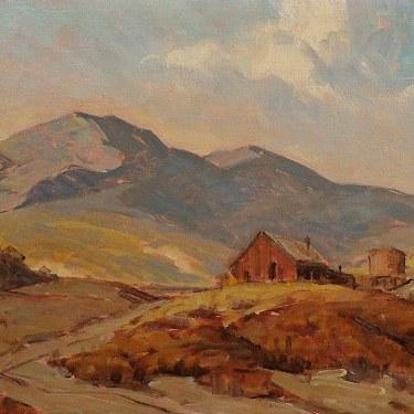 Walt Lee Down Bouquet Canyon 12x16 Oil on Canvas Board