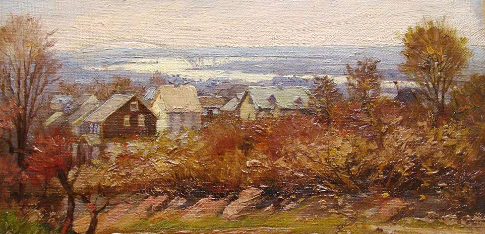 Albert Ulrich, Painting of Staten Island, Bayonne Bridge